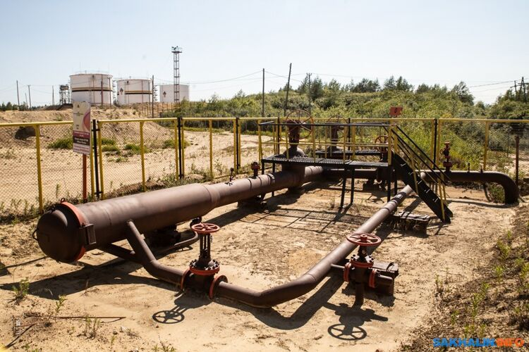 Одно измест врезки вмагистральный трубопровод, ведущий сСахалина вКомсомольск-на-Амуре