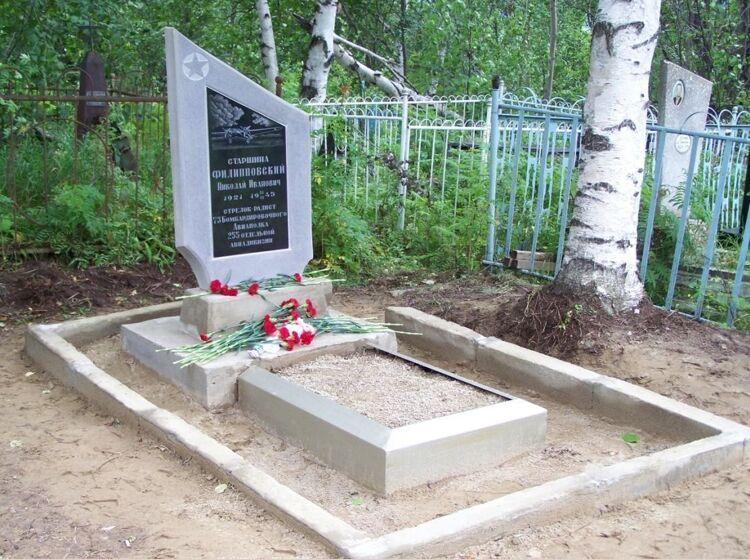 Место захоронения Николая Филипповского