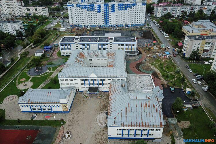 Строительство пристройки кгимназии №1 Южно-Сахалинска, еесдадут 1 сентября