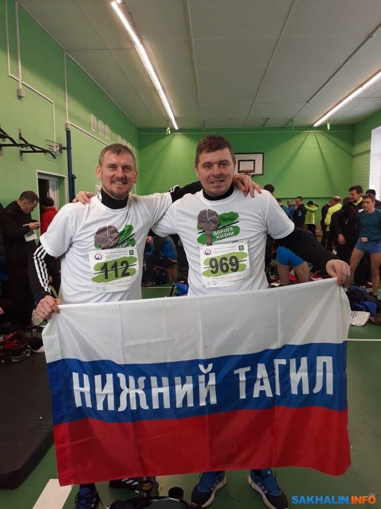 На марафоне вПитере сошкольным другом Алексеем