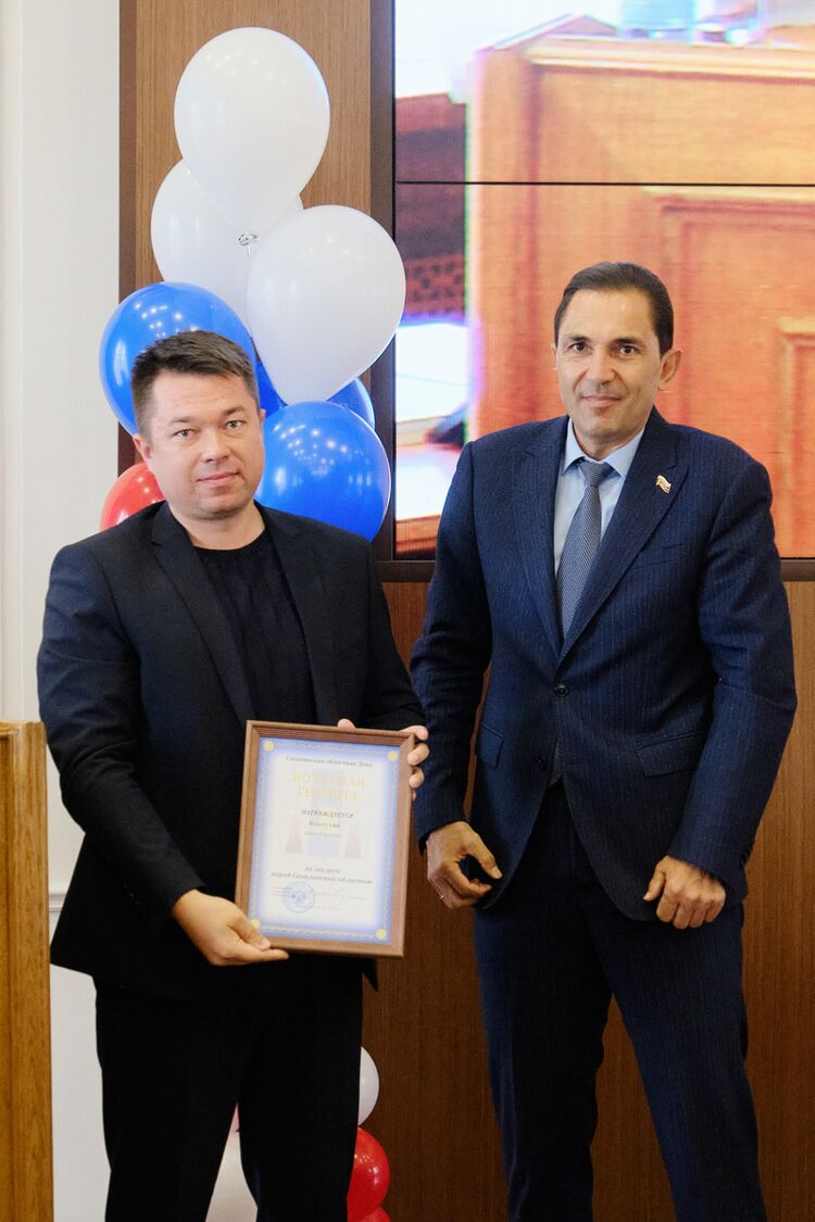 Иван Золотухин, начальник отдела строительного контроля, ипредседатель облдумы Андрей Хапочкин