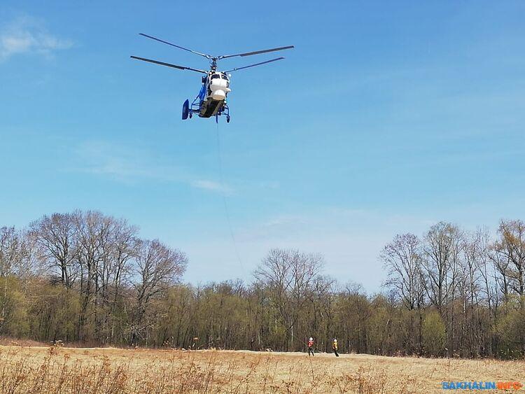 Вертолет Ка-32 научениях