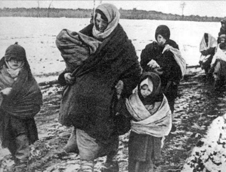 Жители оккупированной Брянщины в 1941-м. Немцы гнали молодых женщин вместе с детьми, фото администрации Брянской области
