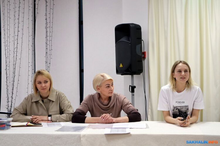 Екатерина Валюс, Ирина Савицкая и Марина Апрускина