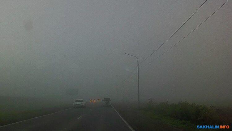 Дорога в Южно-Сахалинск из Ново-Александровска сегодня утром