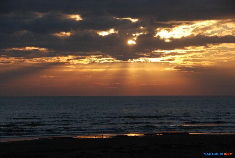 Рассвет над Охотским морем