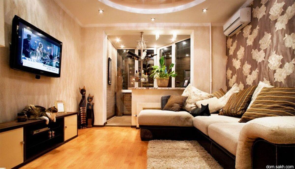 """Дизайн зала 18 кв.м с балконом"""" - карточка пользователя parf."""